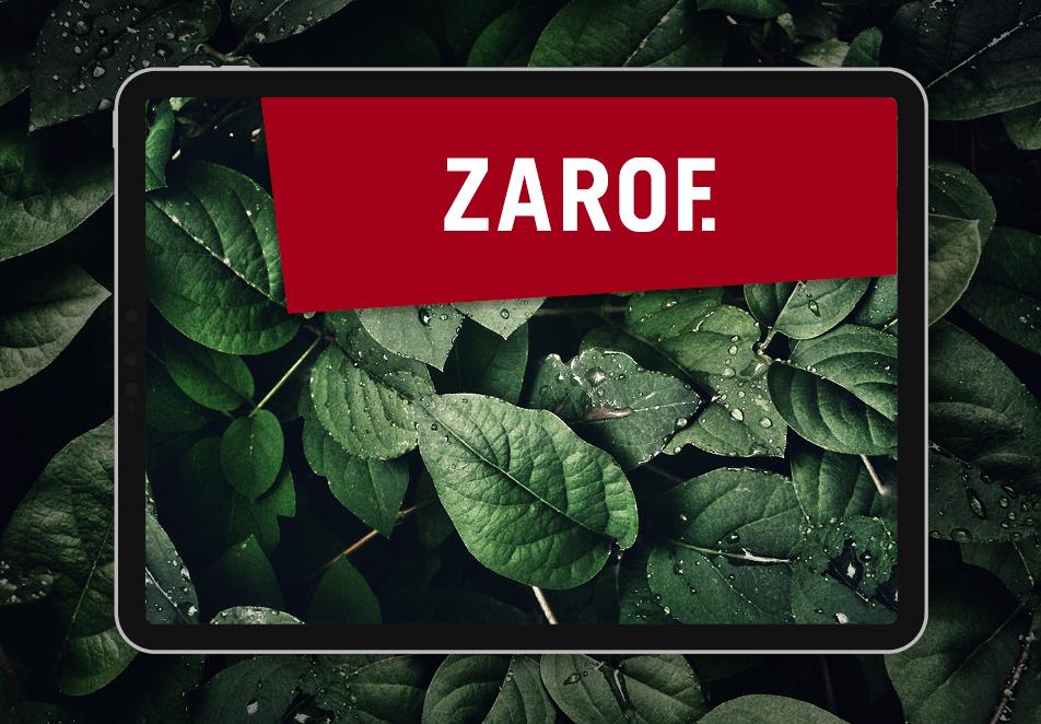 ZAROF. GmbH, Corporate Design, Editorial Design, Screen Design, Typografie